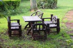 Chairs in garden Stock Photos