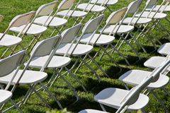 Chairs on grass Royalty Free Stock Image