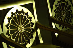 chairs guld- Arkivfoton