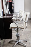 Chairs In Hair Salon Royalty Free Stock Images
