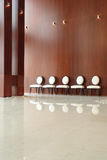 Chairs in the hall. Numbers of chairs in the hall Royalty Free Stock Photos
