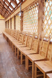 Chairs in a hall Royalty Free Stock Image