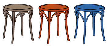 Chairs. Hand drawing of three classic wooden chairs Royalty Free Stock Photography