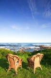 chairs havet Arkivbild