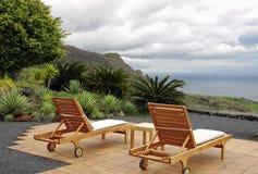 chairs havsiktsvulkan Arkivbilder