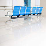 Chairs in hospital hallway Royalty Free Stock Photography