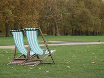 Chairs in Hyde park Stock Photos