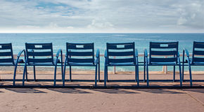 Free Chairs In Front Of The Sea Stock Photography - 31666682