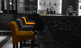 Free Chairs In Row At Elegant Bar Reception Table Stock Images - 46439274