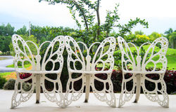 Free Chairs In The Butterfly Garden. Royalty Free Stock Photography - 26022407