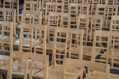 Chairs Inside The English Reformed Church At The Begijnhof Amsterdam The Netherlands 2018 stock image