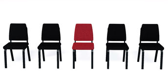 Chairs it is isolated on a white background Royalty Free Stock Image