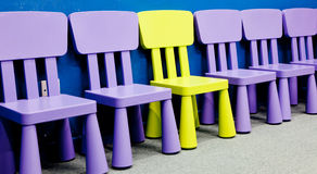 Chairs for kids Royalty Free Stock Photo