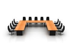 chairs konferenstabellen Arkivfoto
