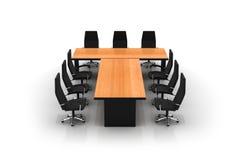 chairs konferenstabellen Royaltyfri Fotografi