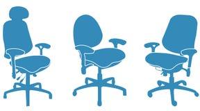 chairs kontoret stock illustrationer