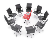 chairs kontoret Arkivfoton