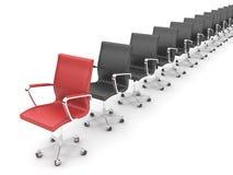 chairs kontoret Arkivbild