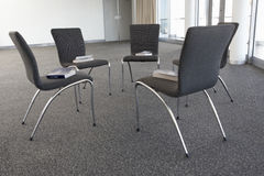 Chairs Laid Out For Bible Study Group Stock Image