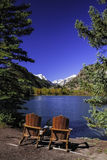 Chairs by Lake Stock Image