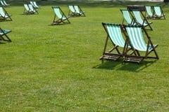 chairs lawn Arkivbilder