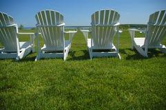 chairs lawn Royaltyfri Fotografi