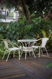 chairs lawn två Royaltyfria Bilder