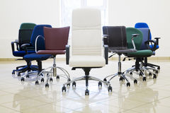 Chairs leadership Stock Photography