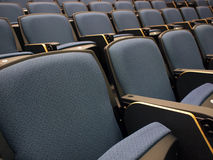 Chairs in lecture hall. Close-up of chairs in a lecture hall of university Stock Photography