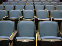 Chairs in lecture hall Stock Photo