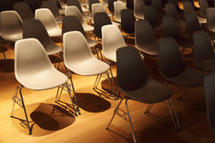 chairs legs metal plastic rows several 图库摄影