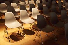 chairs legs metal plastic rows several 图库摄影