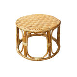 Chairs made of woven rattan on white background Royalty Free Stock Photo