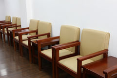 Chairs in meeting room. The chairs in the meeting room from the side Royalty Free Stock Images