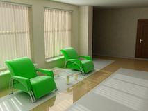Chairs in modern living room Royalty Free Stock Image