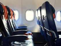 Chairs in the modern plane Royalty Free Stock Images