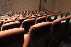 Chairs in modern theatre Royalty Free Stock Image