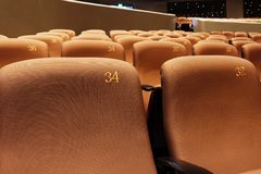 Chairs in modern theatre Royalty Free Stock Photo
