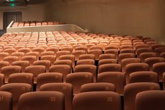 Chairs in modern theatre interior Royalty Free Stock Photos