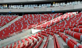 Chairs. National Stadium in Warsaw Royalty Free Stock Images