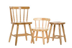 Chairs natural wood Royalty Free Stock Photo