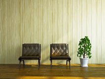 Chairs near the wall Stock Photography