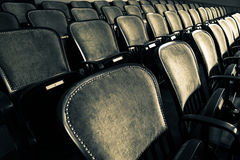 Chairs in an old theater Royalty Free Stock Image
