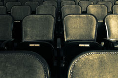 Chairs in an old theater Stock Photo