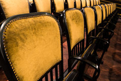 Chairs in an old theater Stock Image