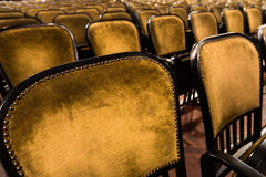 Chairs in an old theater Royalty Free Stock Images