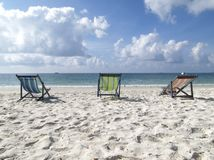 Chairs On The Beach Royalty Free Stock Photography