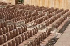 Chairs. open air auditorium, Alhambra, Granada, Spain Stock Photos