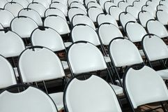 Chairs in open air cinema Royalty Free Stock Image
