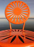 chairs orange uw Royaltyfria Foton